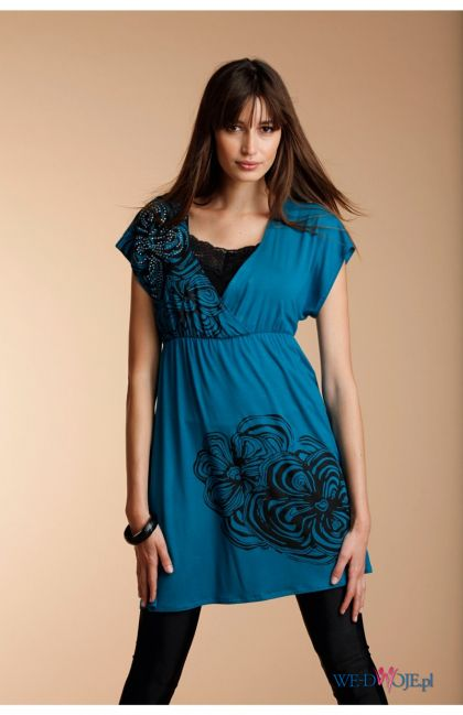 niebieska sukienka Halens - kolekcja jesienno-zimowa