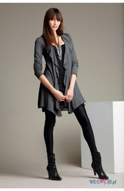 popielata bluzka Halens rozpinane - kolekcja jesienno-zimowa