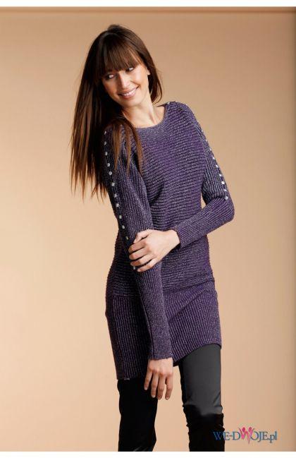 fioletowy sweter Halens długie - kolekcja jesienno-zimowa