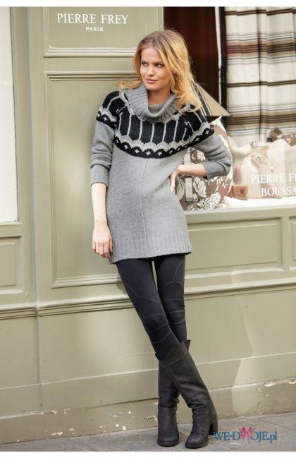 szary sweter Halens we wzory - kolekcja jesienno-zimowa