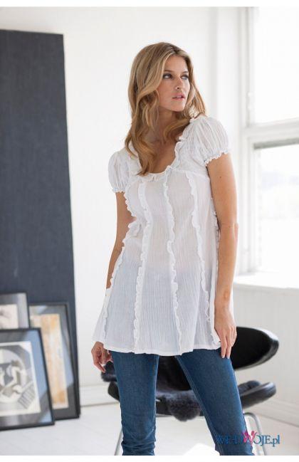biała bluzka Halens - kolekcja jesienno-zimowa