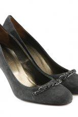 popielate pantofle Venezia z kokard� - jesie�-zima 2010/2011