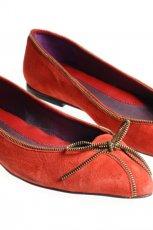 czerwone baleriny Gino Rossi z kokard� - jesie�-zima 2010/2011