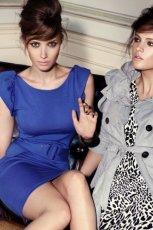 niebieska sukienka Mohito - jesie�/zima 2010/2011