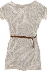 szara sukienka Pull and Bear z paskiem - jesie�/zima 2010/2011