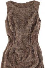 br�zowa sukienka Pull and Bear - jesie�/zima 2010/2011