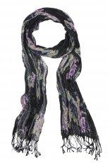 czarna chusta Cubus w kwiaty - jesie�-zima 2010/2011