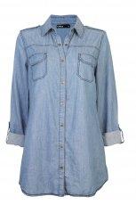 niebieska koszula Cubus d�insowa - jesie�-zima 2010/2011