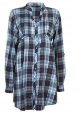 niebieska koszula Cubus w kratk� - jesie�-zima 2010/2011