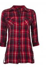 czerwona koszula Cubus w kratk� - jesie�-zima 2010/2011