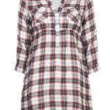 br�zowa koszula Cubus w kratk� - jesie�-zima 2010/2011