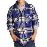 niebieska koszula Cubus w kratk� - jesie�/zima 2010/2011