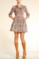 br�zowa sukienka Mango we wzory - jesie�-zima 2010/2011