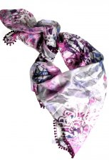 fioletowa apaszka Olsen we wzory - moda jesie�/zima 2010