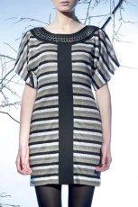 sukienka Langner w paski - jesie�/zima 2010/2011
