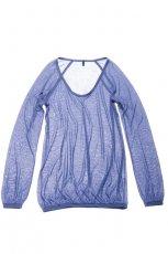 niebieska bluzka Benetton - jesie�/zima 2010/2011