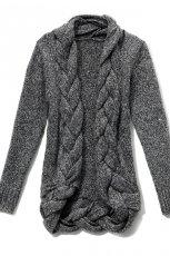 popielaty sweter Reserved rozpinany - moda jesie�/zima 2010