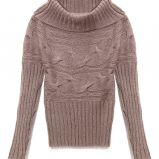 br�zowy sweter Reserved z golfem - jesie�/zima 2010/2011