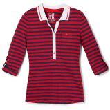 czerwona bluzka Reserved w paski - z kolekcji jesie�-zima