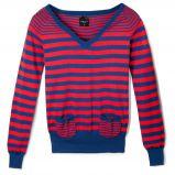 czerwony sweter Reserved w paski - jesie�/zima 2010/2011