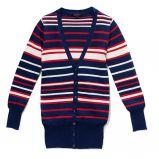 granatowy sweter Reserved w paski rozpinany - jesie�/zima 2010/2011