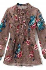 br�zowa koszula Reserved w kwiaty - jesie�-zima 2010/2011
