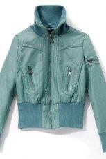 niebieska kurtka Reserved ze sk�ry - jesie�-zima 2010/2011