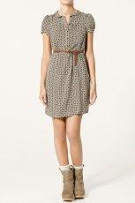 kolorowa sukienka ZARA - trendy jesienne