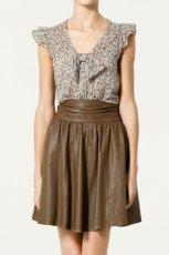 kolorowa bluzka ZARA - sezon jesienno-zimowy