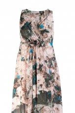 kolorowa sukienka Stefanel w kwiaty - jesie�-zima 2010/2011