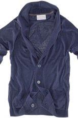 granatowy sweter Pull and Bear z guzikami - jesie�-zima 2010/2011