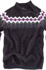 grafitowy sweter Pull and Bear we wzory - jesie�-zima 2010/2011