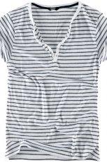 bia�a koszulka Pull and Bear w paski - jesie�/zima 2010/2011