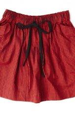 czerwona sp�dnica Springfield z kieszeniami - moda jesie�/zima 2010