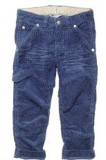 niebieskie spodnie H&M sztruksowe - kolekcja jesienno-zimowa