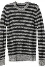 popielaty sweter H&M w paski - moda jesie�/zima 2010