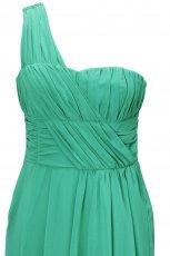 zielona sukienka H&M asymetryczna - trendy jesienne
