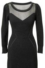 czarna sukienka H&M - jesie�/zima 2010/2011