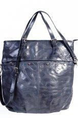 niebieska torebka Gino Rossi ze sk�ry - trendy na jesie�-zim�