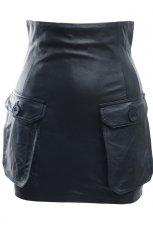 czarna sp�dnica H&M ze sk�ry - moda jesienna