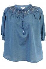 niebieska bluzka H&M - moda jesie�/zima 2010