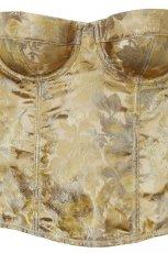 z�oty gorset H&M w kwiaty - jesie�/zima 2010