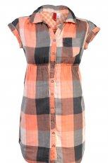 pomara�czowa tunika H&M w kratk� - kolekcja jesienno-zimowa