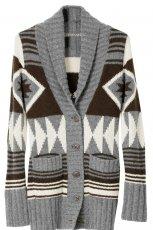 sweter H&M we wzory rozpinany - jesie�/zima 2010