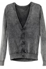 popielaty sweter H&M rozpinany - trendy na jesie�-zim�