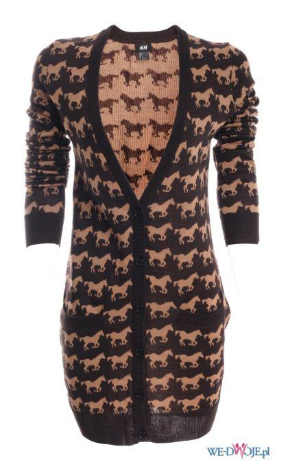 czarny sweter H&M we wzory - kolekcja jesienno-zimowa