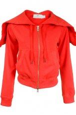 czerwona bluza Adidas rozpinana - trendy na jesie�-zim�