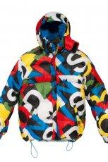 kolorowa kurtka Adidas z kapturem - kolekcja zimowa
