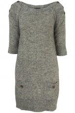 srebrny sweter Topshop d�ugie - sezon jesienno-zimowy