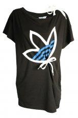 czarna koszulka Adidas z nadrukiem - z kolekcji jesie�-zima